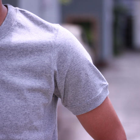 D18012《Simple Side Panel T shirt》C/# GRAY