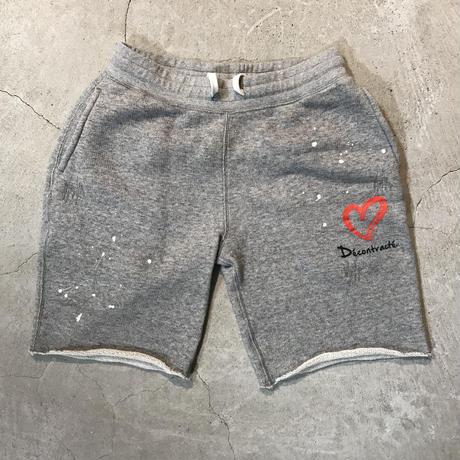 D18015《Paintdamage Sweat Shorts》C/# GRAY