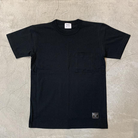 D19008《Pocket Tshirt》 C/# BLACK