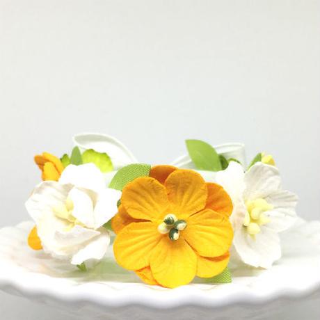 花冠「floral  yellow・C」【S】サイズ