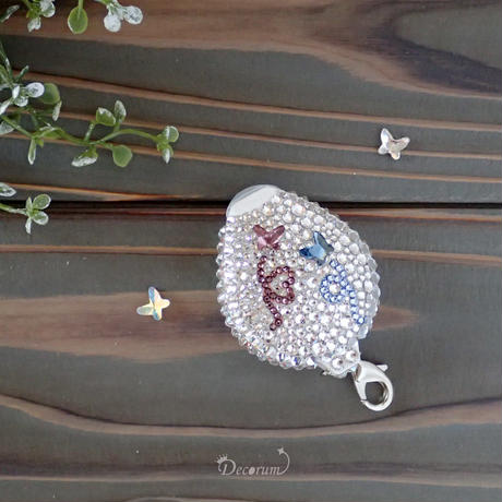 【片面デコ】 ネックストラップ Butterflyシンフォニー(PUTIT5)