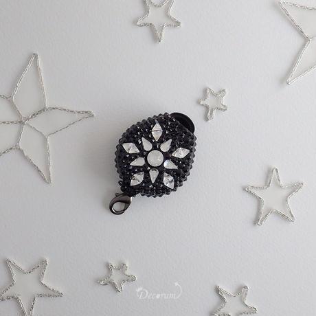 【片面デコ】 ネックストラップ Happy Star 【黒】(PUTIT5)