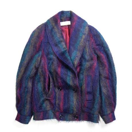 Oscar de la Renta / Mohair Double Tailored Jacket