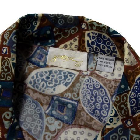 Gottex / Euro Vintage Leaf Patterned Aloha Shirts