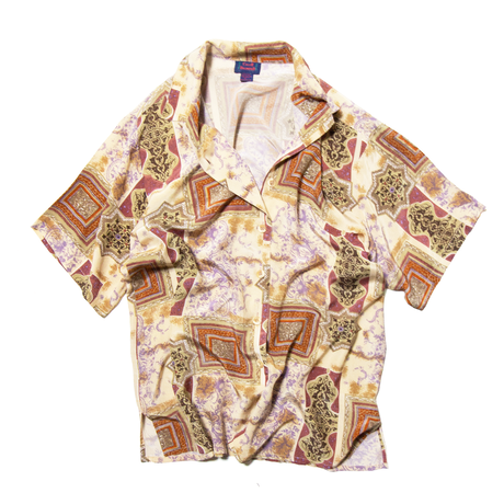 Color Unlimited / All Over Patterned Silk Shirts
