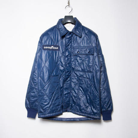 70's GOODYEAR Quilted Racing Jacket グッドイヤー モーターサイクル ホットロッド S