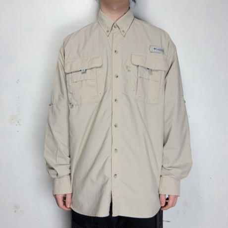 Columbia PFG L/S Shirts カーキ M?