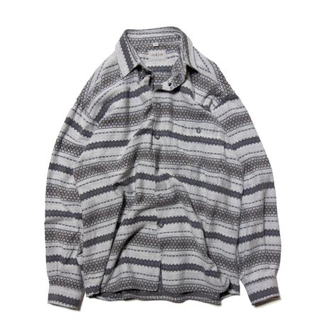 Paco Calvari / Euro Vintage Jacquard Stripe Shirts