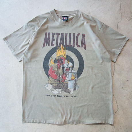 """90's METALLICA """"burn your fingers one by one"""" S/S T-shirts メタリカ パスヘッド"""