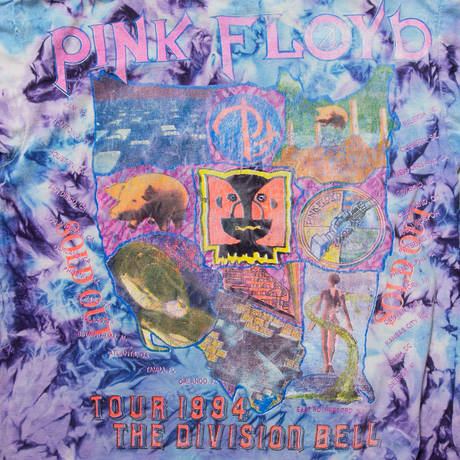 """'94 Pink Floyd """"The Division Bell Tour"""" Bootleg /  SS T-Shirts"""