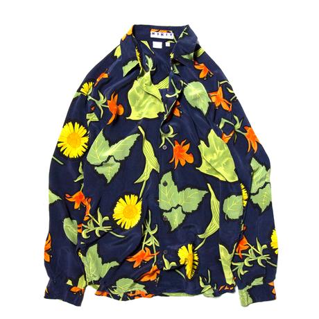 Kikit Maurice Sasson / Euro Vintage Flower Patterned Silk Shirts