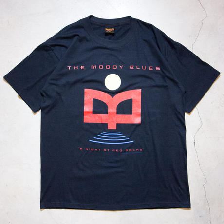 "NOS '93 Moody Blues ""A Night At Red Rocks"" S/S T-shirts ムーディ・ブルース アバッキオ"