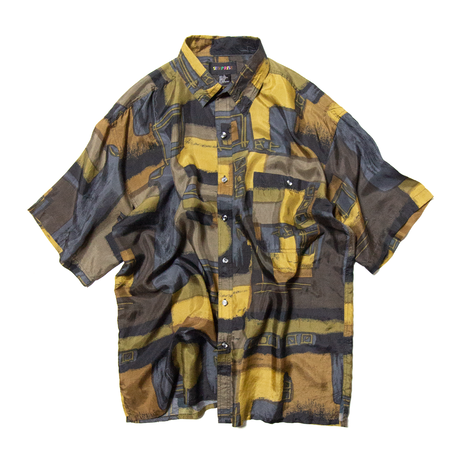 Surprise / All Over Patterned Silk Shirts