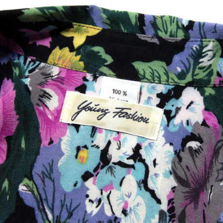 Young Fashion / Euro Vintage Flower Patterned Rayon Shirts