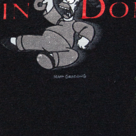 """90's The Simpsons """"Slouching Homer Dippin Donut"""" / SS T-shirts"""