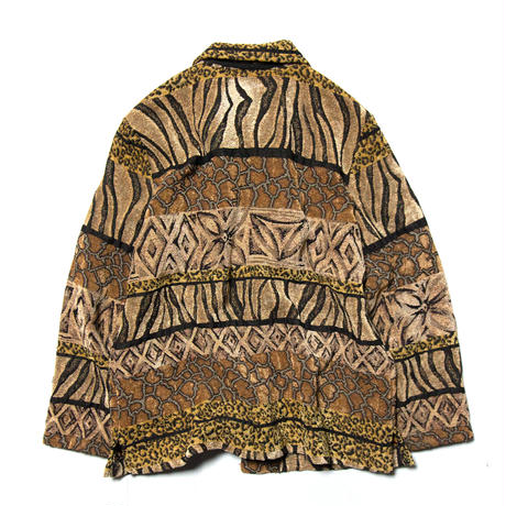 Elcc / Animal Patterned Stripe Jacket
