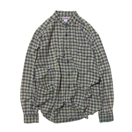 Badge / Collarless Check Shirts