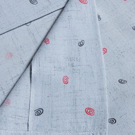 60's WALDORF Atomic Pattern Open Collar Shirts アトミック 渦巻き