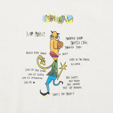 """'95 Pearl Jam """"Mr. Point Tour"""" / SS T-Shirts"""