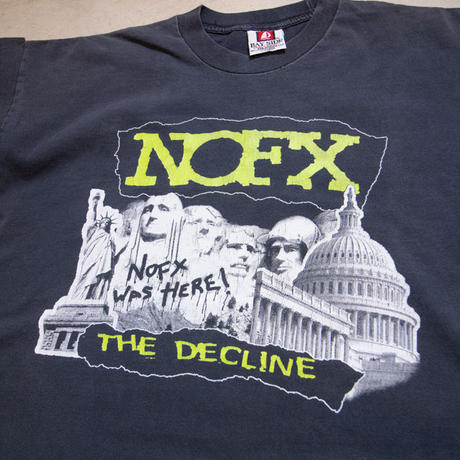 "'99 NOFX ""THE DECLINE"" S/S T-shirts ノーエフ エピタフ XL"