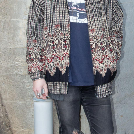 Unknown / Paisley Patterned Zip-up Jacket