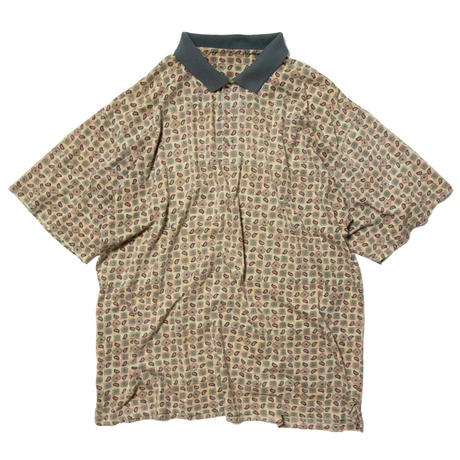 Unknown / Paisley Patterned SS Polo Shirts