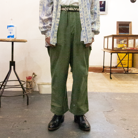 60's US ARMY / Sateen Type1 Trousers ベイカーパンツ