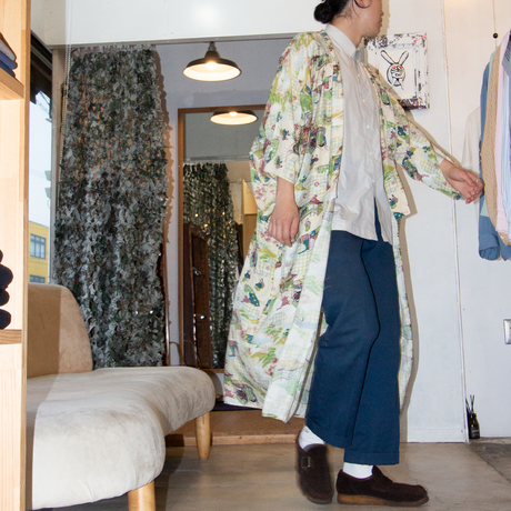 Hand Printed Japanese Patterned Gown 着物