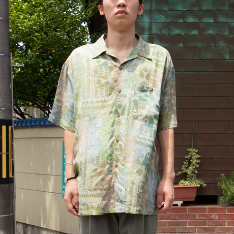 Orvis / All Over Patterned Rayon Shirts