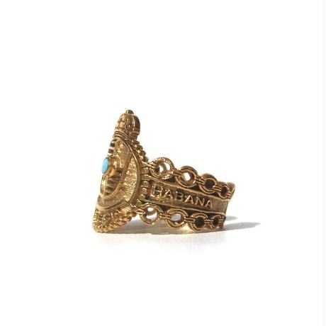 """Cigar label"" Gold ring / Crown"