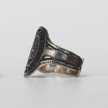 """Cigar label"" Silver ring / Eileen"