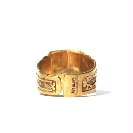 """Cigar label"" Gold ring / La Amita"
