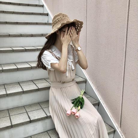 テーラードプリーツワンピース【192-6010】