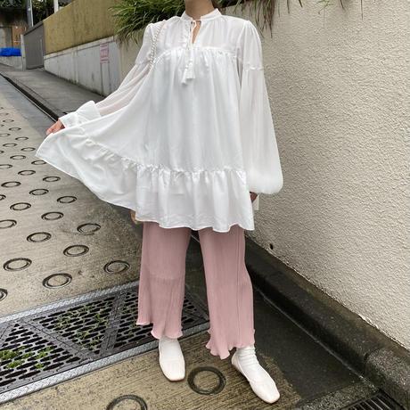 ストレートプリーツパンツ【201-5006】