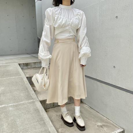 ボタンデザインフレアスカート【211-4023】