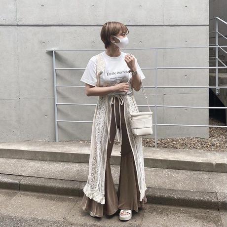 リブニットフレアパンツ【211-5001】