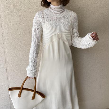 クロシェ編みショートトップス【211-3011】