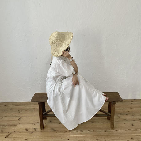 パフスリーブシャツワンピース3way(white)【211-6019】
