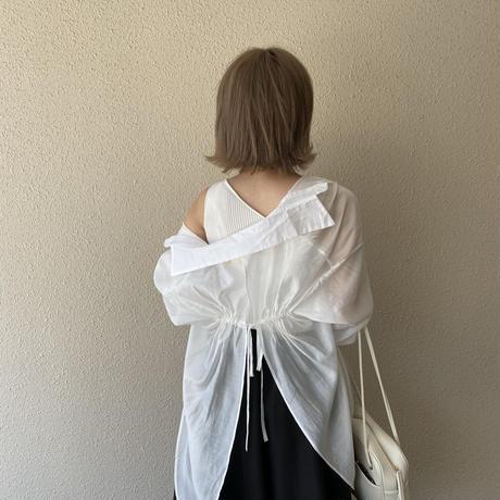バックデザインシアーシャツ【211-1047】