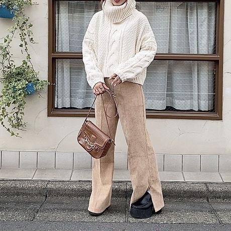 コーデュロイワイドパンツ【192-5003】
