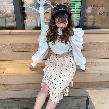 ドットフリルアシメスカート【192-4027】