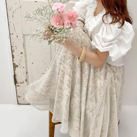 小花柄シフォンフレアスカート【211-4011】