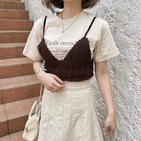 クロシェ編みショートビスチェ【211-3009】