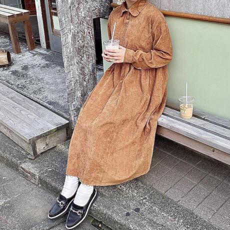 ブラウンレトロワンピース【192-6023】
