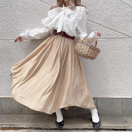 アシメテロテロロングスカート【191-4060】