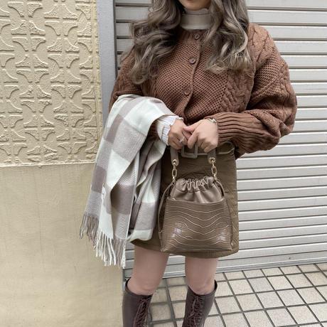 袖ボリュームニットカーデ【192-3036】