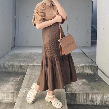 セミサークルプリーツスカート【202-4023】