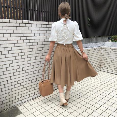 フレアミディ丈スカート【211-4022】
