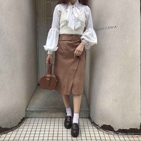 フロントデザインタイトスカート【192-4017】