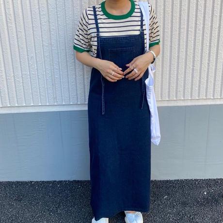 配色ボーダーtee【211-2044】